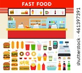 fast food and express cafe... | Shutterstock .eps vector #461397391