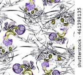 seamless pattern with chamomile ...   Shutterstock . vector #461398135