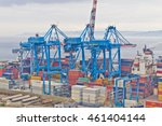 boat docked on valparaiso port. ... | Shutterstock . vector #461404144
