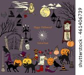 halloween. background with hand ... | Shutterstock . vector #461406739