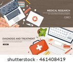 medical flat vector background... | Shutterstock .eps vector #461408419