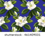 Seamless Pattern With Magnolia...