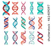 dna molecule sign set  genetic... | Shutterstock . vector #461409097