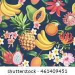 hawaiian seamless pattern with... | Shutterstock .eps vector #461409451