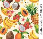 hawaiian seamless pattern with...   Shutterstock .eps vector #461409529
