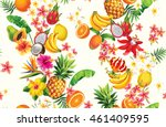 hawaiian seamless pattern with... | Shutterstock .eps vector #461409595