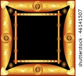 decorative frame with patterns... | Shutterstock .eps vector #46141507