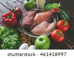 products for sports nutrition ... | Shutterstock . vector #461418997