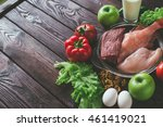 products for sports nutrition ... | Shutterstock . vector #461419021