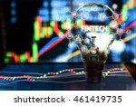 fintech investment financial... | Shutterstock . vector #461419735
