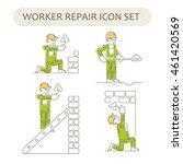worker building  repair and... | Shutterstock .eps vector #461420569