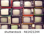 pattern wall of pile colorful... | Shutterstock . vector #461421244