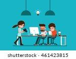 co working. | Shutterstock .eps vector #461423815