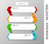 banners infographics template...   Shutterstock .eps vector #461427304