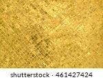 Mosaic Tile Pattern Gold Color