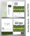 set of business templates for... | Shutterstock .eps vector #461427955