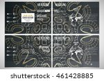 vector set of tri fold brochure ... | Shutterstock .eps vector #461428885