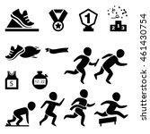 isolated sport.runner icon... | Shutterstock .eps vector #461430754