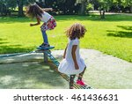 adorable kids playing outside... | Shutterstock . vector #461436631