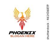 phoenix bird logo template | Shutterstock .eps vector #461436859