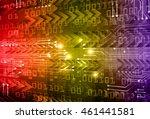 yellow yellow purple abstract... | Shutterstock .eps vector #461441581