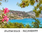 beautiful views of kalkan ... | Shutterstock . vector #461448499