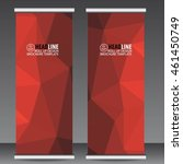abstract red roll up banner... | Shutterstock .eps vector #461450749