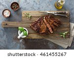 ribeye steak seared to medium... | Shutterstock . vector #461455267
