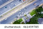 aerial view of car accident on... | Shutterstock . vector #461459785