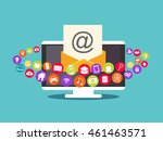 email marketing. email contents.... | Shutterstock .eps vector #461463571