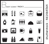 bakery line icons set.mono... | Shutterstock .eps vector #461464564