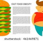 obesity infographic template  ... | Shutterstock .eps vector #461469871