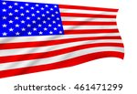 the stars and stripes flag on... | Shutterstock . vector #461471299