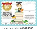 preschool elementary school... | Shutterstock .eps vector #461475085