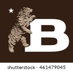 bear icons  emblems and labels. ... | Shutterstock .eps vector #461479045