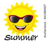 happy sun wearing sunglasses... | Shutterstock .eps vector #461480407