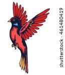 vector of hummingbird vintage... | Shutterstock .eps vector #461480419