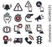 alarm  panic icon set | Shutterstock .eps vector #461484151