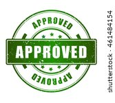 approved rubber stamp green... | Shutterstock .eps vector #461484154
