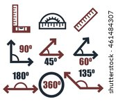 angle icon set   Shutterstock .eps vector #461484307