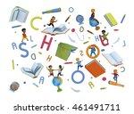 wonderful volume 3d... | Shutterstock . vector #461491711