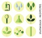 vector modern flat biology... | Shutterstock .eps vector #461491981