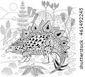stegosaurus   prehistoric... | Shutterstock .eps vector #461492245
