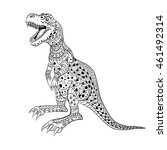 tyrannosaur    prehistoric...   Shutterstock .eps vector #461492314