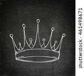 golden king crown. hand drawn... | Shutterstock .eps vector #461498671