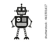 robot icon isolated on white... | Shutterstock . vector #461501617