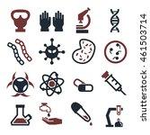 biohazard  toxic icon set | Shutterstock .eps vector #461503714