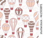 background with hot air balloons | Shutterstock .eps vector #461503891