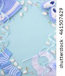 its a boy  blue theme baby... | Shutterstock . vector #461507629