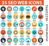 seo and development 35 icons.... | Shutterstock .eps vector #461510941